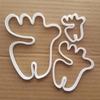 Moose Bull Cow Elk Deer Shape Cookie Cutter Dough Biscuit Pastry Fondant Sharp Stencil Animal Reindeer