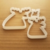 Moose Reindeer Antlers Shape Cookie Cutter Dough Biscuit Pastry Fondant Sharp Stencil Xmas Christmas Deer Animal Mammal
