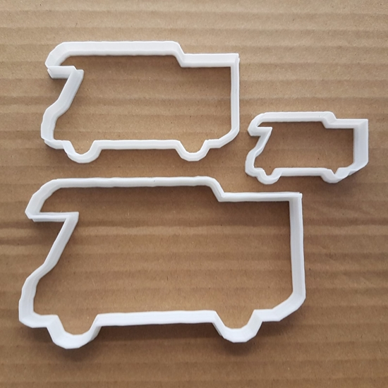 Camper Van Mobile Home Shape Cookie Cutter Dough Biscuit Pastry Fondant Sharp Stencil Vehicle RV Campervan Caravan