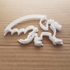 Dragon Wings Lizard Smaug Shape Cookie Cutter Dough Biscuit Pastry Fondant Sharp Stencil Mythical Creature Fire Wales Welsh