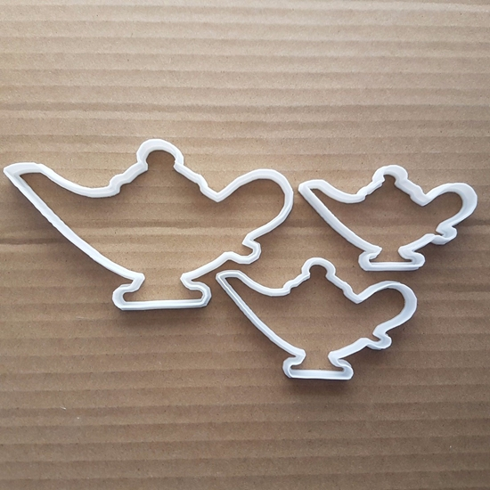 Genie Lamp Vintage Aladdin Shape Cookie Cutter Dough Biscuit Pastry Fondant Sharp Teapot Tea Pot Stencil