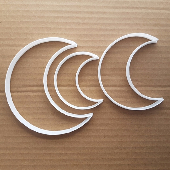 Moon Crescent Sky Space Shape Cookie Cutter Dough Biscuit Pastry Fondant Sharp Stencil Galaxy Half