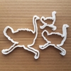 Ostrich Bird Somali Shape Cookie Cutter Dough Biscuit Pastry Fondant Sharp Stencil Animal Emu Australia Cassowary