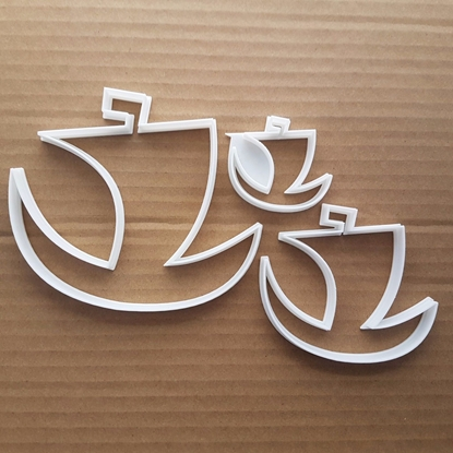 Boat Ship Yacht Sailing Shape Cookie Cutter Dough Biscuit Pastry Fondant Sharp Stencil Pirate Vehicle Sail