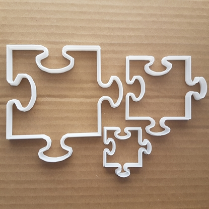Picture of Jigsaw Pieces Cookie Cutter Pastry Dough Biscuit Game Jig Saw Shape Puzzle Toy Sharp Stencil Fondant