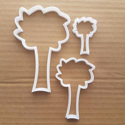 Tree Plant Forest Wood Leaves Shape Cookie Cutter Dough Biscuit Pastry Stencil Sharp Fondant