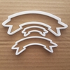 Banner Shape Cookie Cutter Dough Biscuit Pastry Ribbon Sash Party Award Prize Fondant Stencil Sharp