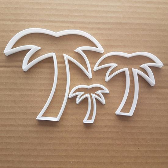Palm Tree Holiday Bahamas Shape Cookie Cutter Dough Biscuit Pastry Stencil Beach Ocean Sea Sharp Fondant Hawaii Plant Coconut