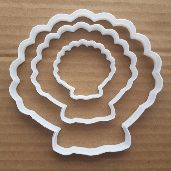 Scallop Shell Mussel Oyster Shape Cookie Cutter Beach Biscuit Pastry Stencil Sharp Dough Fondant Sea Ocean