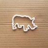 Rhino Rhinoceros Animal Shape Cookie Cutter Dough Biscuit Pastry Fondant Sharp Stencil Mammal African