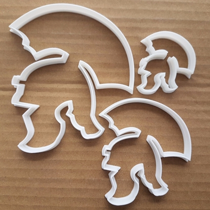 Roman Gladiator Centurion Shape Cookie Cutter Dough Biscuit Pastry Fondant Sharp Stencil Helmet Hat Armour Headwear