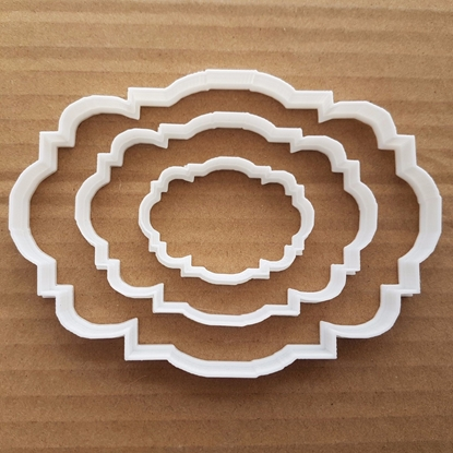 Plaque Frame Mirror Shape Cookie Cutter Dough Biscuit Pastry Fondant Sharp Stencil Name Plate Prize