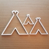 Tent Tipi Teepee Lodge Shape Cookie Cutter Dough Biscuit Pastry Fondant Sharp Stencil Hut