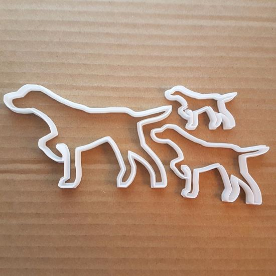 Dog Blood Hound Shooter Shape Cookie Cutter Dough Biscuit Pastry Fondant Sharp Stencil Animal Pet Puppy Pooch