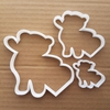 Heart Bear Teddy Love Toy Shape Cookie Cutter Dough Biscuit Pastry Fondant Sharp Stencil Cuddly Baby Shower Valentine's Day Soft