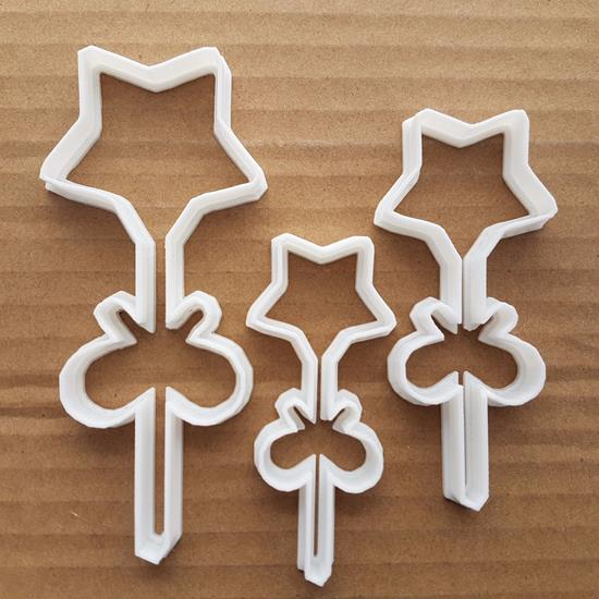 Star Ribbon Lolly Sweet Shape Cookie Cutter Dough Biscuit Pastry Fondant Sharp Stencil Candy Food Xmas Christmas