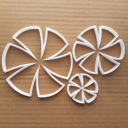 Flower Circle Firework Shape Cookie Cutter Dough Biscuit Pastry Fondant Sharp Stencil Plant Garden Catherine Wheel Floral
