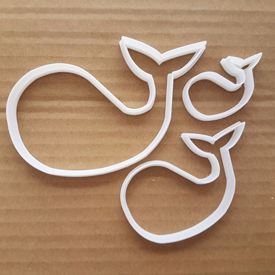 Whale Ocean Mammal Sea Shape Cookie Cutter Animal Biscuit Pastry Fondant Sharp Ocean Stencil Dough Fish