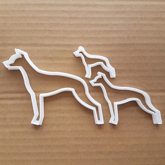 Dog Whippet Animal Hound Shape Cookie Cutter Dough Biscuit Pastry Fondant Sharp Stencil Pooch Puppy Pet Greyhound