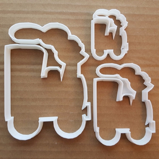 Train Steam Locomotive Shape Cookie Cutter Dough Biscuit Pastry Fondant Sharp Stencil Choo Choo Vehicle