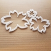 Cherry Sakura Flower Shape Cookie Cutter Dough Biscuit Pastry Fondant Sharp Stencil Japan Blossom Floral