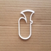 Tuba Instrument Music Shape Cookie Cutter Dough Biscuit Pastry Fondant Sharp Stencil Musical Brass Band