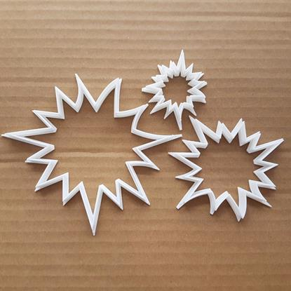 Sun Star Explosion Summer Shape Cookie Cutter Dough Biscuit Pastry Fondant Sharp Stencil Xmas Christmas