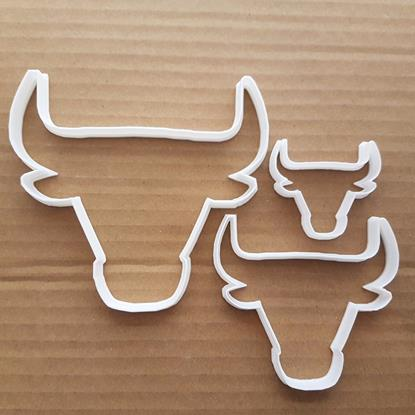 Chicago Bulls Emblem Shape Cookie Cutter Dough Biscuit Pastry Fondant Sharp Stencil Animal Bull Buffalo