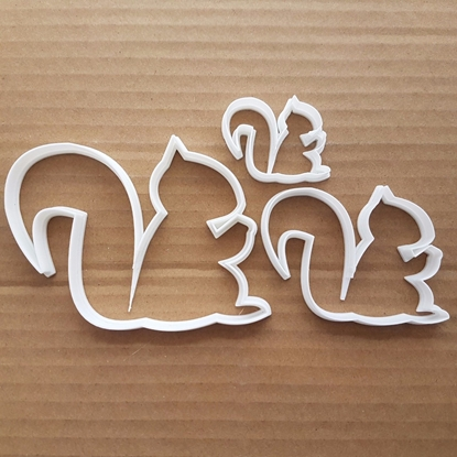 Squirrel Tree Chipmunk Shape Cookie Cutter Dough Biscuit Pastry Fondant Sharp Stencil Animal Critter
