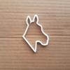 Horse Head Pony Donkey Shape Cookie Cutter Dough Biscuit Pastry Fondant Sharp Stencil Stable Animal