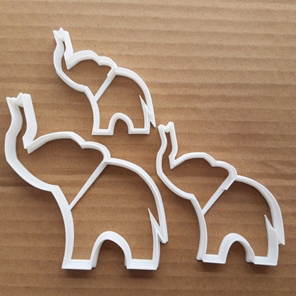 Elephant African Mammal Shape Cookie Cutter Dough Biscuit Pastry Fondant Sharp Stencil Animal