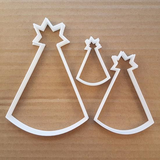 Party Hat Star Birthday Shape Cookie Cutter Dough Biscuit Pastry Fondant Sharp Stencil