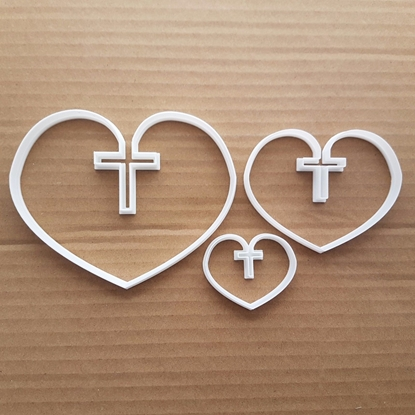Heart Love Christ Cross Shape Cookie Cutter Dough Biscuit Pastry Fondant Sharp Stencil Valentine's Day