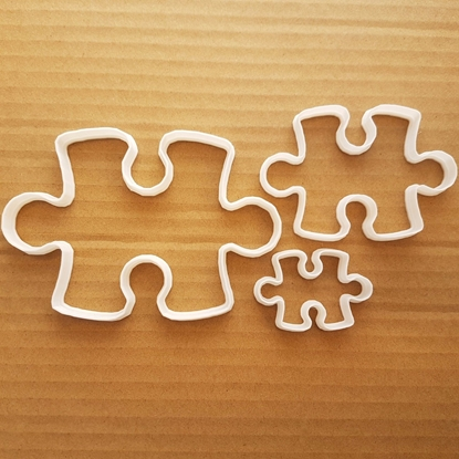 Puzzle Piece Jigsaw Game Shape Cookie Cutter Dough Biscuit Pastry Fondant Sharp Stencil Jig Saw