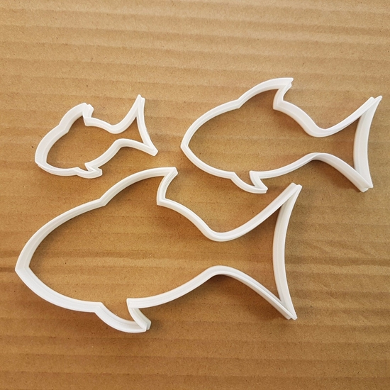 Fish Bream Tench Animal Shape Cookie Cutter Dough Biscuit Pastry Fondant Sharp Stencil Ocean Beach Seaside Side Sea Creature Marine