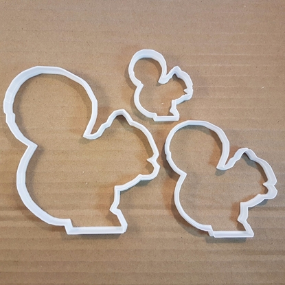 Squirrel Rodent Beaver Vole Red Grey Cookie Cutter Animal Biscuit Pastry Stencil Dough Chipmunk
