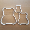 Picture of Teddy Bear Cookie Cutter Biscuit Dough Pastry Cuddly Toy Shape Baby Stencil Fondant Sharp Animal Shower