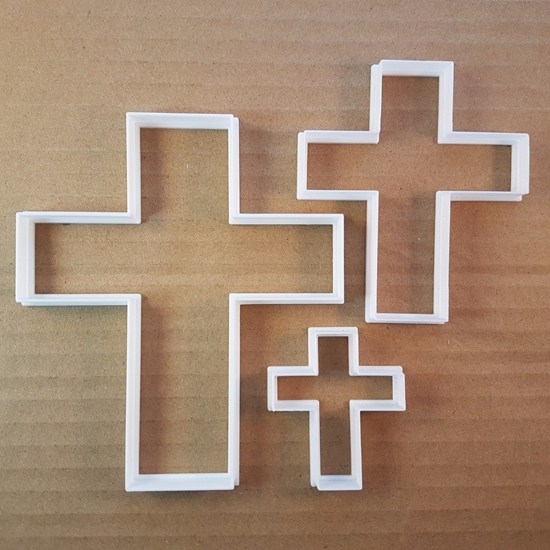 Cross Crucifix Halloween Shape Cookie Cutter Dough Biscuit Pastry Fondant Sharp Stencil Christmas Xmas