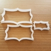 Plaque Mirror Frame Tablet Shape Cookie Cutter Dough Biscuit Pastry Stencil Sharp Name Plate Prize