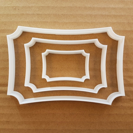 Plaque Frame Tablet Mirror Shape Cookie Cutter Dough Biscuit Pastry Stencil Sharp Name Plate Award Prize