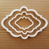 Picture of Plaque Frame Mirror Picture Shape Cookie Cutter Dough Biscuit Pastry Stencil Sharp Plate Name Prize