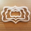 Plaque Mirror Frame Panel Plate Shape Cookie Cutter Dough Biscuit Pastry Stencil Name Prize