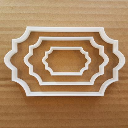 Plaque Mirror Frame Tablet Slab Shape Cookie Cutter Dough Biscuit Pastry Stencil Sharp Prize Name Plate Ticket Stub