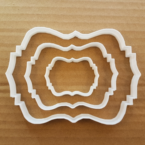 Picture of Plaque Cookie Cutter Award Biscuit Dough Pastry Name Frame Message Picture Prize Sharp Stencil Fondant