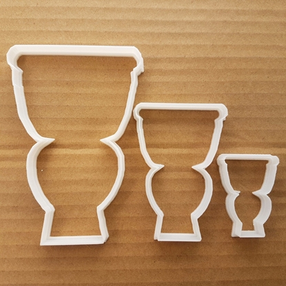 Toilet Lavatory Loo W/C Shape Cookie Cutter Dough Biscuit Pastry Fondant Sharp Stencil Restroom Cloakroom Bathroom House Warming