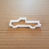 Utility Truck Pick Up Van Shape Cookie Cutter Dough Biscuit Pastry Fondant Sharp Stencil Car Automobile Auto Mobile Vehicle