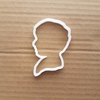 Boy Shape Cookie Cutter Head Biscuit Pastry Dough Victorian Silhouette Man Stencil Sharp Fondant