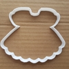 Dress Gown Skirt Lady Woman Shape Cookie Cutter Dough Biscuit Pastry Stencil Sharp Girl Frock Prom Pinafore