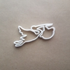 Stork Baby Birth Bird Pregnancy Shape Cookie Cutter Dough Biscuit Fondant Sharp Stencil Shower Christening Animal