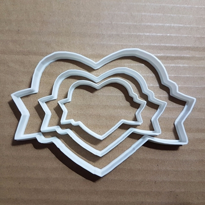 Heart Tattoo Ribbon Biker Shape Cookie Cutter Dough Biscuit Pastry Fondant Sharp Stencil Valentine's Day Valentine Wedding Love